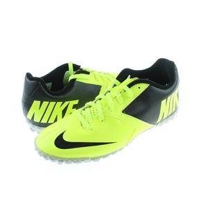 Mens Black Yellow Bomba II Soccer Shoes Medium
